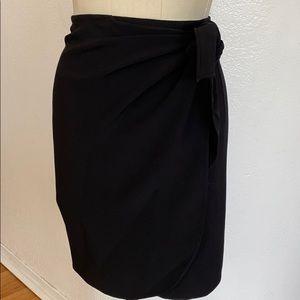 Vintage DKNY black ruched side skirt Y2K grunge 2